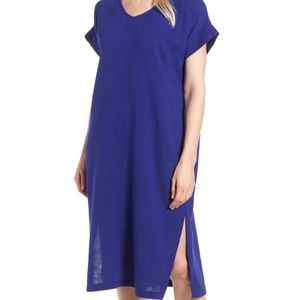 Eileen Fisher Organic Cotton Gauze V-Neck Dress